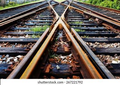 Close-up close-up shots of the tracks
