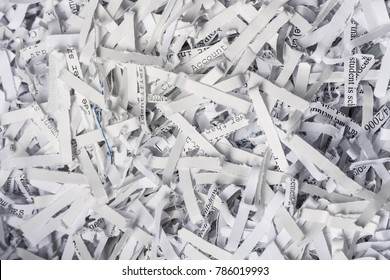 Closeup of Shredded Paper from a paper shredder