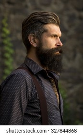 Outstanding Man Beard Long Hair Images Stock Photos Vectors Shutterstock Natural Hairstyles Runnerswayorg