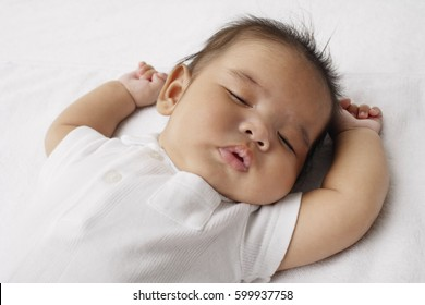 Closeup of sleeping baby.