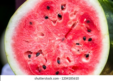 Close-Up of a Sliced Watermelon