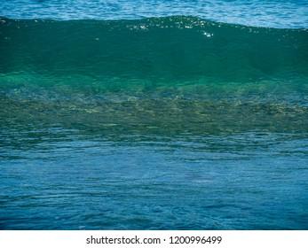 Close-up of a small waves on the sea, Crete island, Greece
