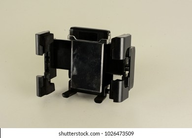 Close-up of smartphone holder Object on a White Background