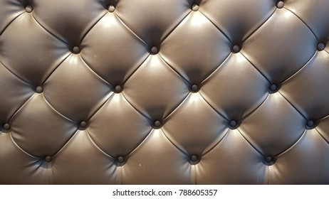 Closeup Sofa, Brown leather sofa cell diagonal texture background