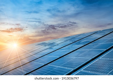 Close-up of Solar cell farm power plant eco technology.landscape of Solar cell panels in a photovoltaic power plant.concept of sustainable resources. - Shutterstock ID 1913036797