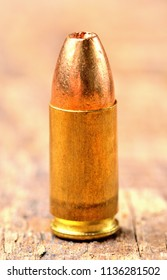 Close-up of special police hollow-point expanding bullet