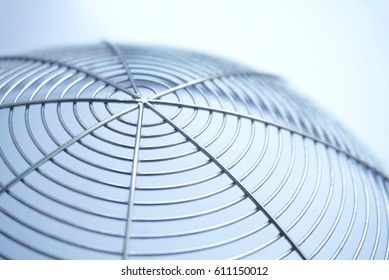 Closeup spiral wire in white background