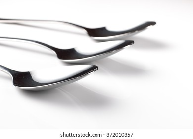 Closeup Spoon Silver , shallow depth of filed