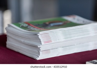 Closeup stack of newspapers