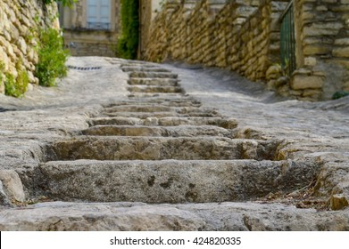 Close-up of stairs, Gordes, France