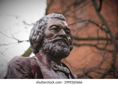Close-Up of Statue of Frederick Douglass