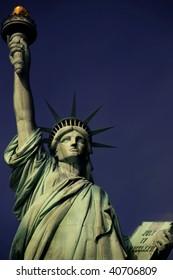 closeup of Statue of Liberty