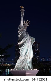 Close-up of Statue of Liberty Replica in Odaiba, Japan