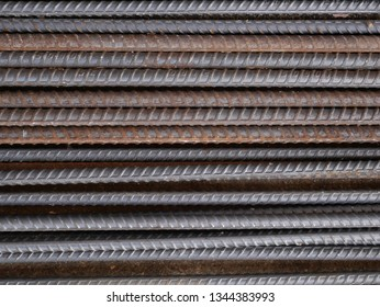 closeup of steel rod,steel bar,rusty iron wire