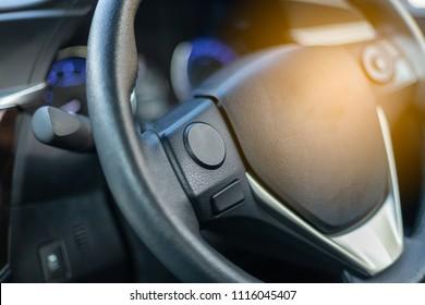Closeup steering wheel