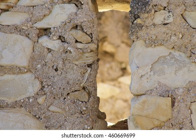 Closeup stone wall