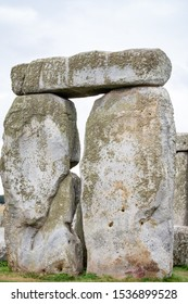 Closeup Stonehenge in Northern England, UK with rocks and details