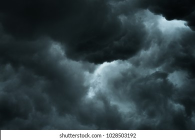 Closeup storm cloud before rainy, Motioc black cloud in summer