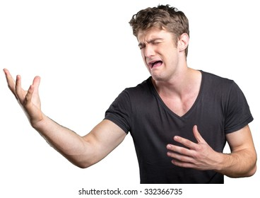 Closeup stressed man