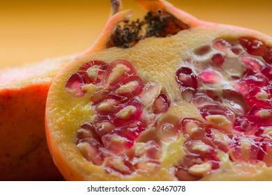 Closeup studio shot of a pomegranate -
