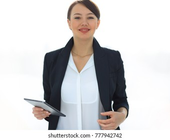 closeup of a successful young business woman