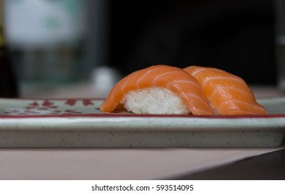 Close-up of sushi food on a plate