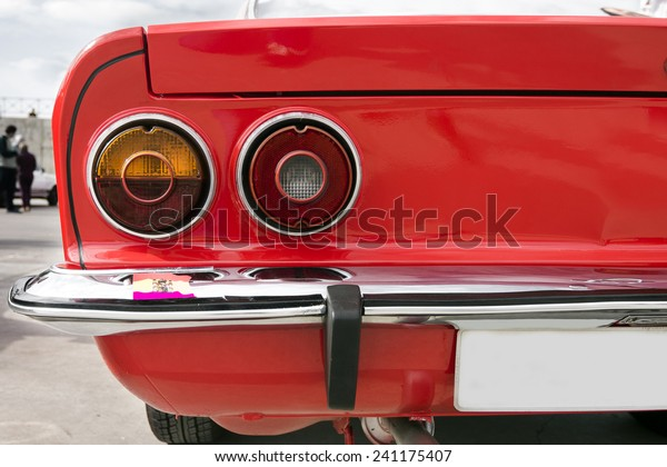 Closeup Tail Lights Red Classic Car Stock Photo (Edit Now) 241175407