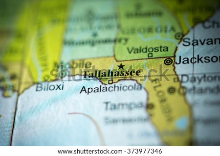 Map Of Tallahassee Florida.Closeup Tallahassee Florida On Political Map Stock Photo Edit Now