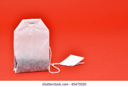 Close-up of a tea bag.