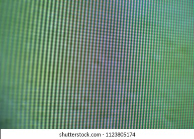 Close-up of a television's LED texture