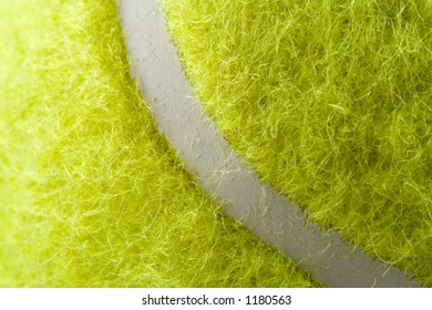 Closeup tennis ball