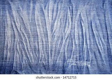 Closeup of the texture of blue jeans