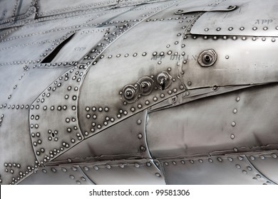 Close-up of the texture of a military aircraft