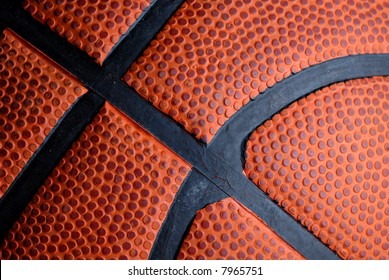 Close-up of texture on a basketball