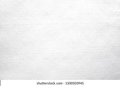 Close-up texture of white color tissue paper background abstract. Detail texture of pattern with free space copy for text.