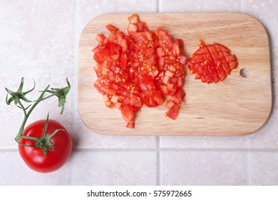 Close-up of tomato slice