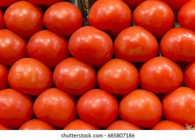Closeup of tomatoes on a market