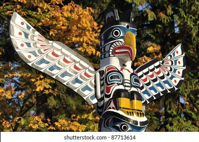 closeup of a totem