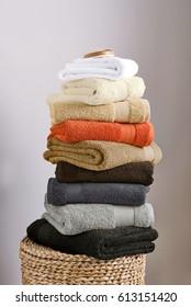 closeup of a towels