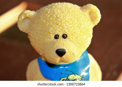 Close-up of a toy bear with friendly face