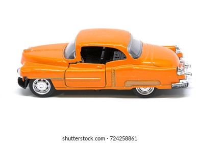 Closeup Toy car isolated