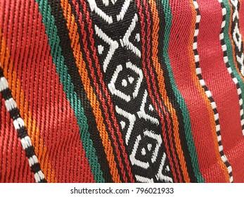 Closeup Of A Traditional Arabian Sadu Pattern