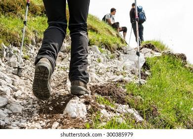 Walking Adventure Close Up Images Stock Photos Vectors