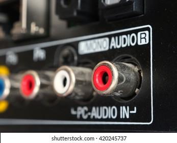 Close-up TV audio input