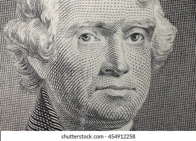 Close-up of two dollars banknote