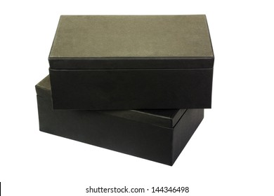 Close-up of two shoe boxes