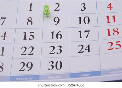 Closeup typographic, white, beautiful, official, business weekly date