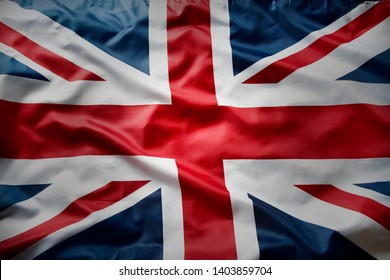 Closeup of Union Jack English flag