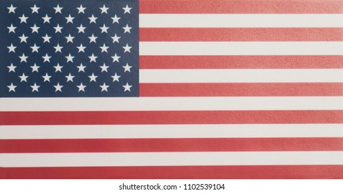 Closeup of United States of America flag.
