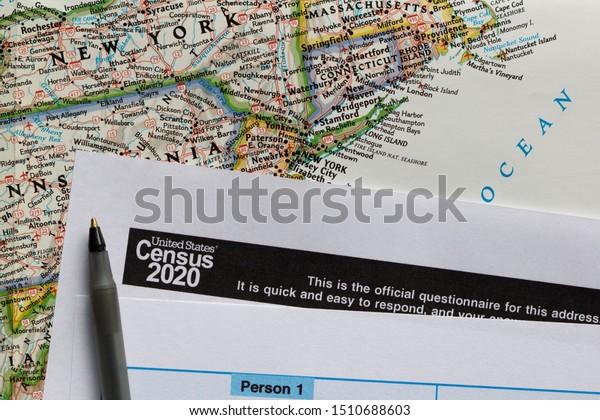 Closeup United States Census 2020 Form Stock Photo (Edit Now ...